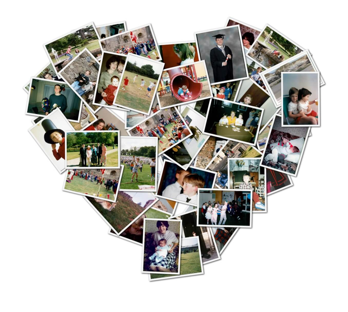 photo scan montage heart