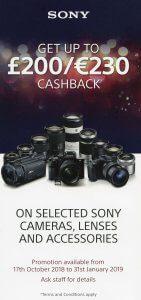 Cashback from Sony